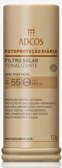 Filtro Solar Tonalizante FPS 55 Base Stick 12g - todos os tons