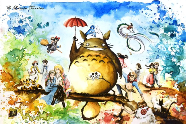 hayao-miyazaki-studio-ghibli-paintings-fan-art-louise-terrier-14